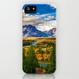 Snake River and Grand Tetons in Winter iPhone Case