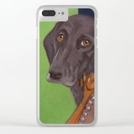 Dog on Chair Clear iPhone Case
