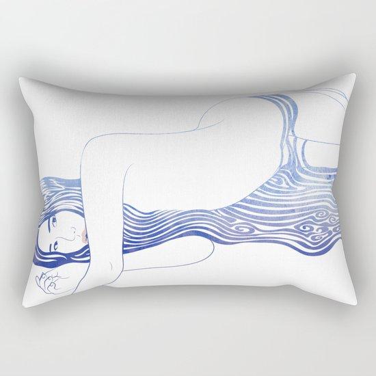 Water Nymph XXXV Rectangular Pillow