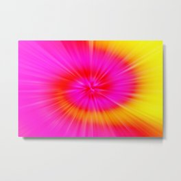TIE DYE #1 (Fuchsias-Magentas, Reds, Oranges & Yellows) Metal Print