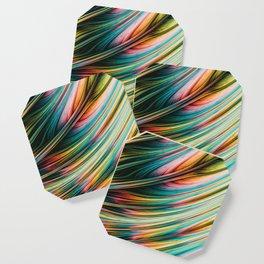 Feral Fiber. Abstract Art Coaster
