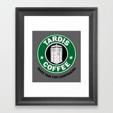 Tardis Coffee Framed Art Print