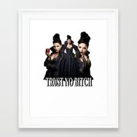 regina mills Framed Art Prints featuring TRUST NO BITCH - Regina by j0seph