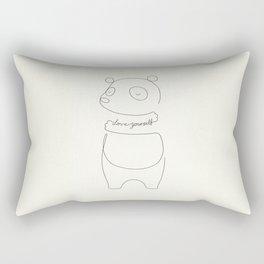 Love Yourself Panda Rectangular Pillow