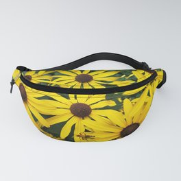 Golden Rudbeckia flowers in the garden Fanny Pack