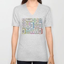 Tape Mix 2 Vintage Cassette Music Collection Unisex V-Neck