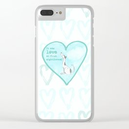 Love at first sight(hound) - Blue Clear iPhone Case