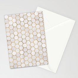 Geometric Hexagonal Pattern Stationery Cards