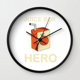 Juice Box Hero Diabetes Awareness Wall Clock