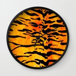 Oh So Orange Tiger Print Wall Clock