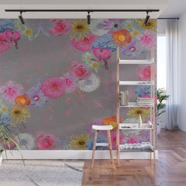 Flowers mixed Wall Mural