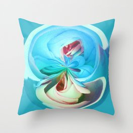 312 - Abstract Flower Orb Design Throw Pillow