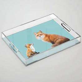 Fox Tenderness Acrylic Tray