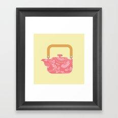 Japan Teapot Spring Framed Art Print