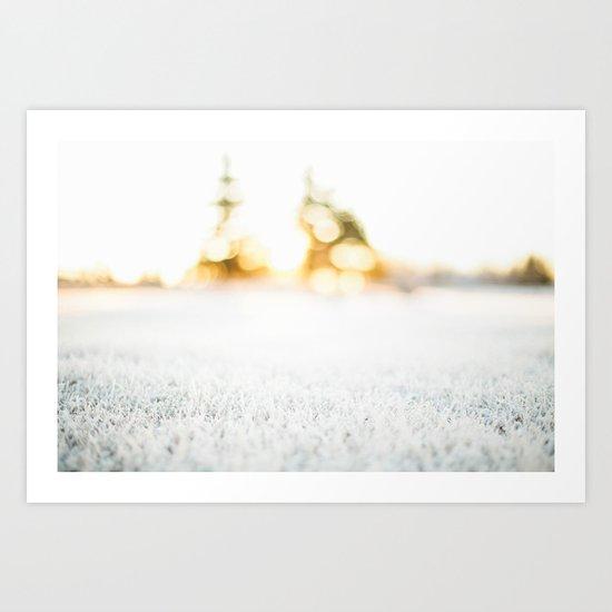 Frosty Sunrise Art Print