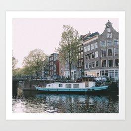 Amsterdam Houseboat Art Print