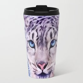 snowy leopard Travel Mug
