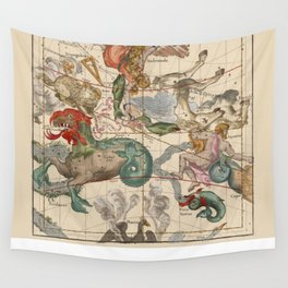 Constellations Andromeda, Pegasus, Cetus and Aries Wall Tapestry
