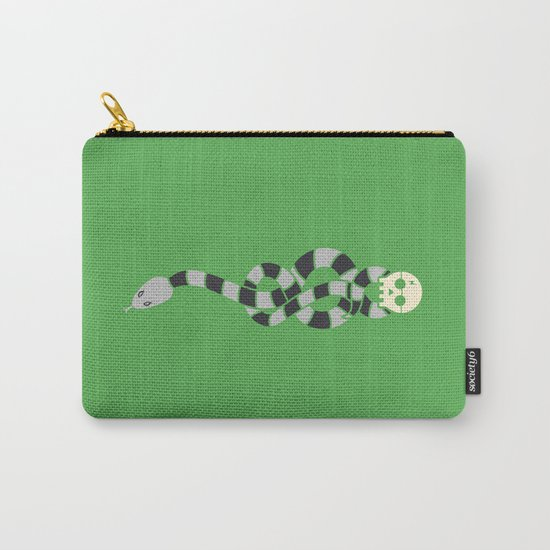The Scarf Mark - Green and Black Carry-All Pouch
