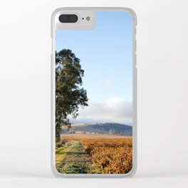 Barossa Valley Autumn Sunshine Clear iPhone Case