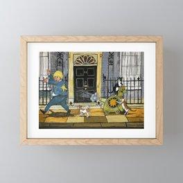 Cats Go Bananas Framed Mini Art Print