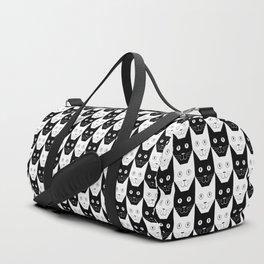 Black cat, white cat Duffle Bag