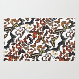 Butterflies of Maine Pattern Rug