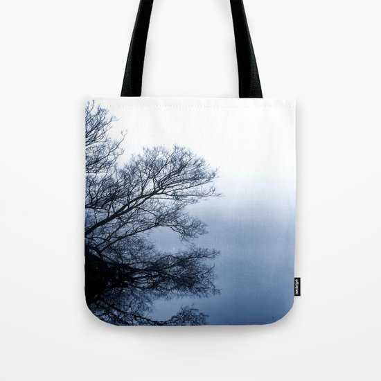 Swans in the Mist Tote Bag
