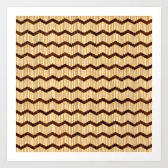 Wooden Chevron Art Print
