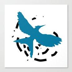 MockingJay Revolution - Blue Canvas Print