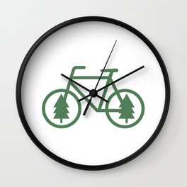 Pacific Northwest Cycling - Bike, Bicycle, Portland, PDX, Seattle, Washington, Oregon, Portlandia Wall Clock
