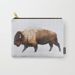 Buffalo In The Snow Carry-All Pouch