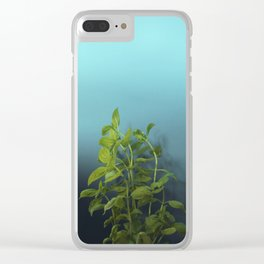 Shy and charming basil Clear iPhone Case