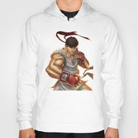 street fighter Hoodies featuring Ryu Street Fighter by RoPerez