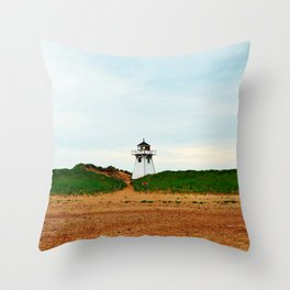 Stanhope PEI Lighthouse and Beach Throw Pillow