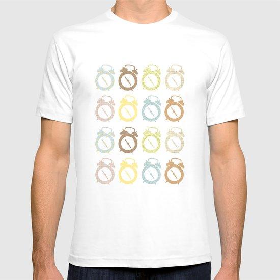 clocks pattern T-shirt