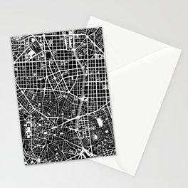 Madrid city map black&white Stationery Cards