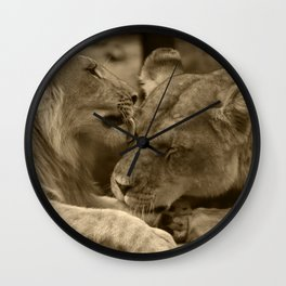 Mother and son II Wall Clock