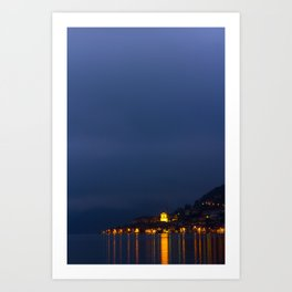 Monteisola By Night Art Print
