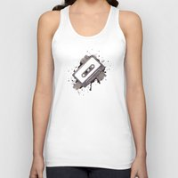 cassette Tank Tops featuring Cassette by One Curious Chip