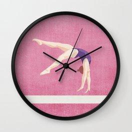 SUMMER GAMES / artistic gymnastics Wall Clock
