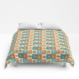 Colourful lemur pattern Comforters