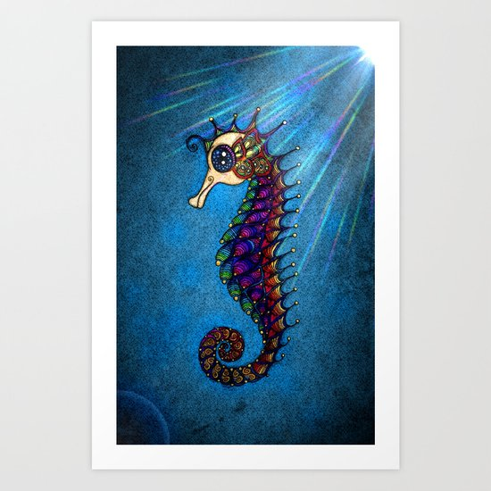 Seahorse for Lala Art Print