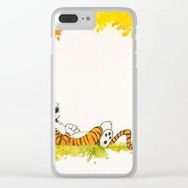 Calvin And Hobbes Cartoon Clear iPhone Case