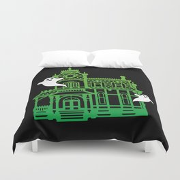 Haunted Victorian House Duvet Cover