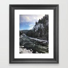 Snowy banks Framed Art Print