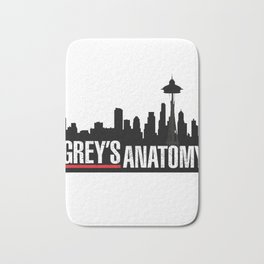 Grey's Anatomy black Bath Mat