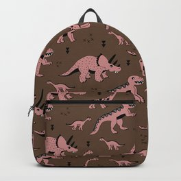 Cool girls dino love ceatures dinosaurs illustration pattern Backpack