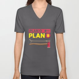 Plan A Plan B Firefighter Unisex V-Neck