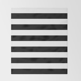Black & White Stripes- Mix & Match with Simplicity of Life Throw Blanket